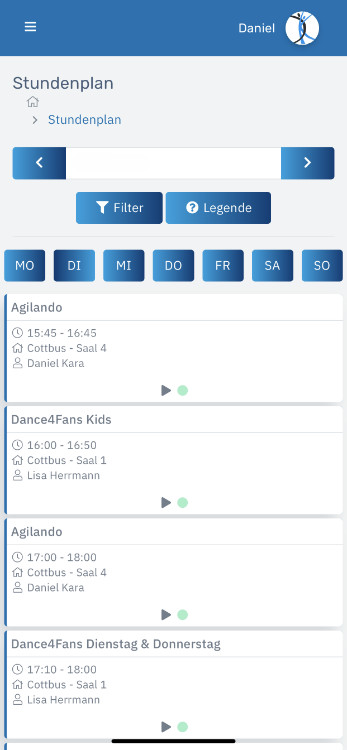Tanzschule Daniel Kara - Community App